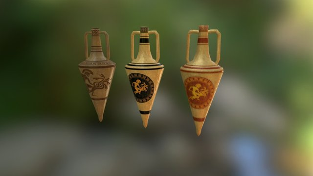 Ancient Amphoras 3D Model