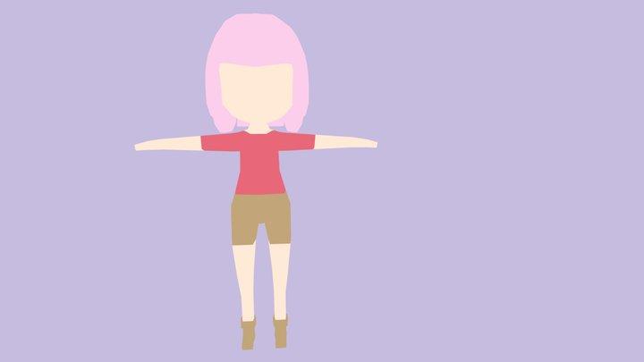 Low Poly Girl 3D Model