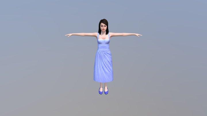 Descisions Female 1 3D Model