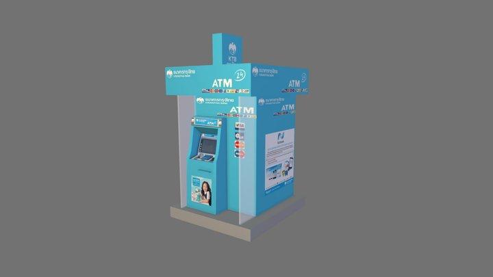 ATM Kiosk 3D Model