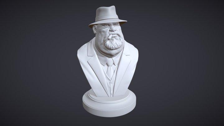 Mafia Boss Var A - 3D Print Ready 3D Model