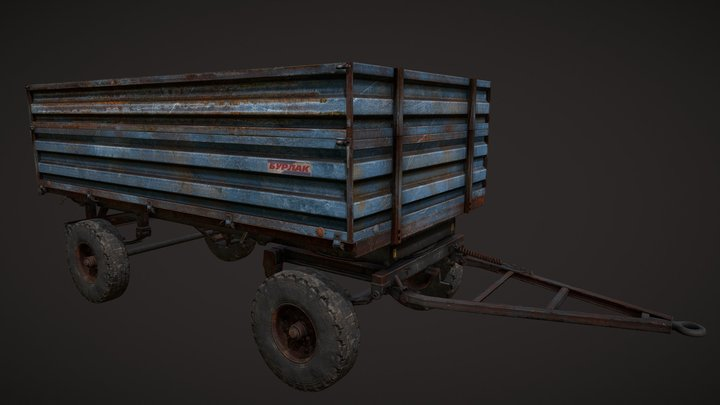 Tractor Trailer (Тракторный прицеп) 3D Model