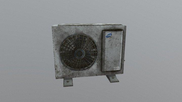 Air Conditioner Unit, Low Poly 3D Model