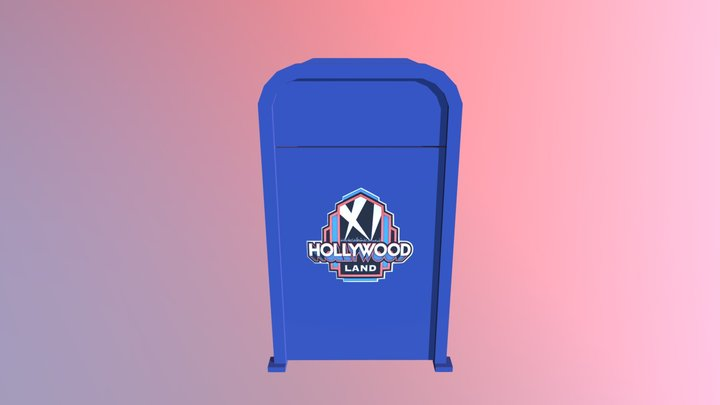 Hollywood Land Trash Can