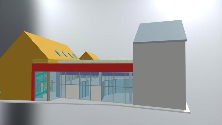 Biržų Rimi  3D modelis / 3D Building Model 3D Model