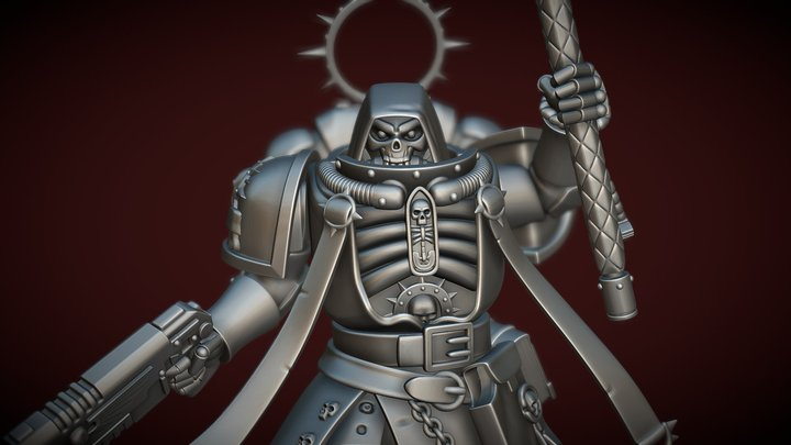Primaris Chaplain (Decimated) 3D Model