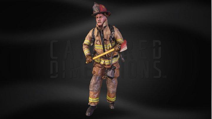 Michael M - Richardson Firefighter 3D Model