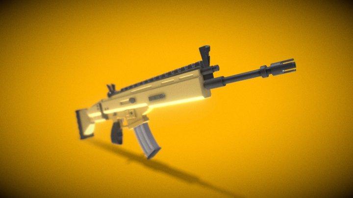 Assault Rifele Fortnite 3D Model
