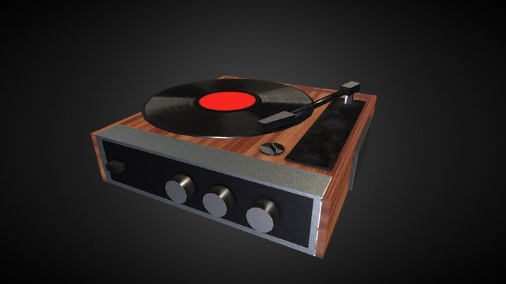 Record Player - lowpoly and gameready 3D Model