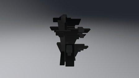 Arbre blocs triangles 3D Model