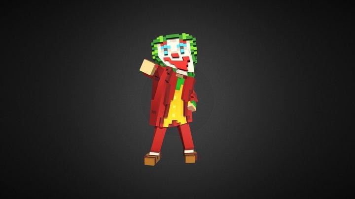 Joker Dancing (Voxel) 3D Model
