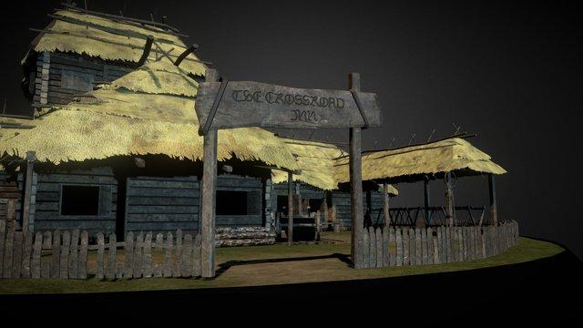 Crossroad Inn (The Witcher 3 Wild Hunt) 3D Model