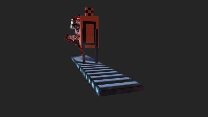 Voxel Shinobi slash attack 3D Model