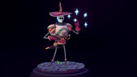 Skeleton Mage [Animation] 3D Model
