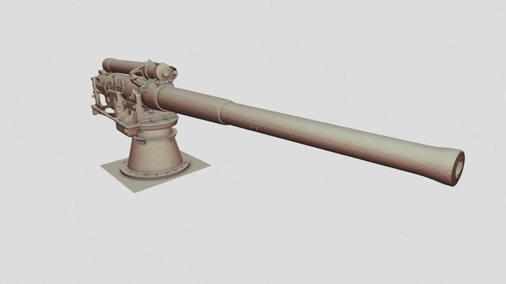 Auckland Museum Cannon 3D Model