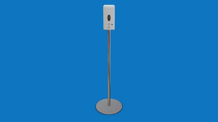 Desinfektionsspender mit Sensor und Standfuß 3D Model