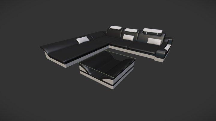 Design Couch Monza 3D Model