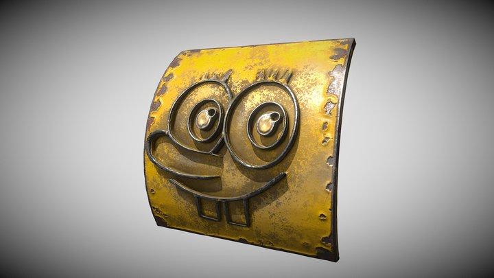 Spongebob metal plate 3D Model