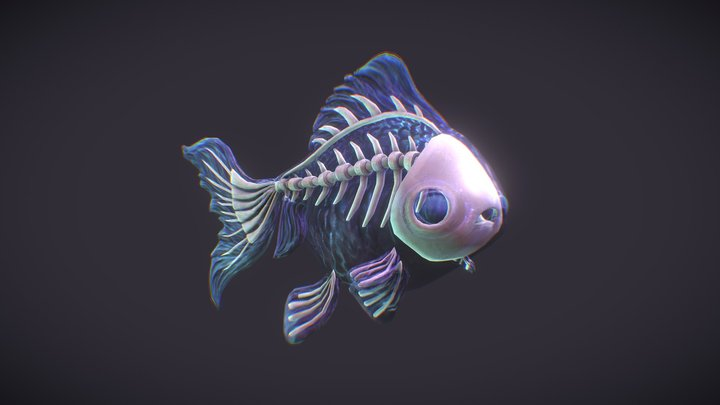 Ghost Fishy 3D Model