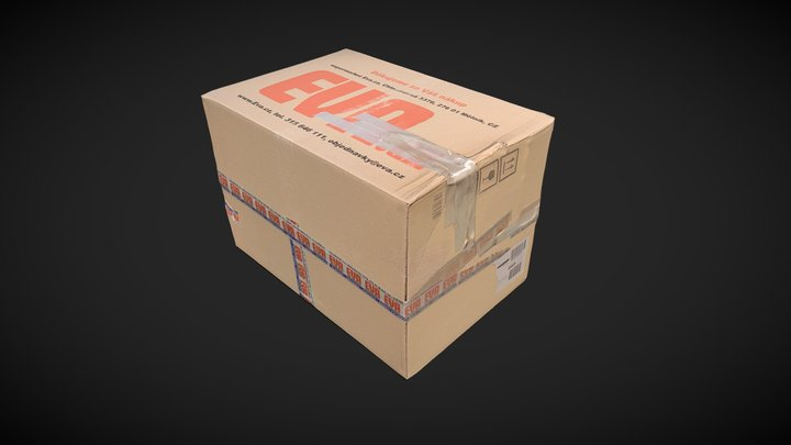 """Cardbord box """"EVA"""" 3D Model"""