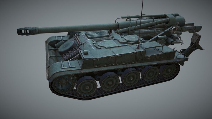 """AMX 13F3AM for """"World of Tanks"""" MMO 3D Model"""