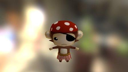 Monkey FBX 3D Model
