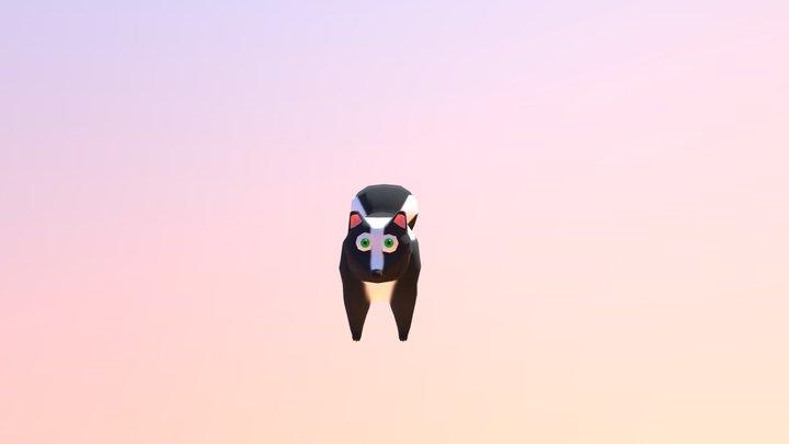 Skunk Idle Animation 2 3D Model
