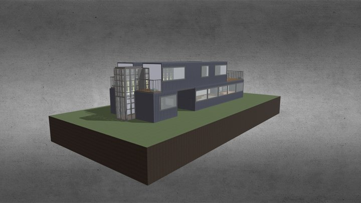 Container Home 3D Model