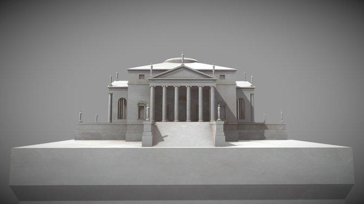 Villa Rotonda Miniatur 3D Model