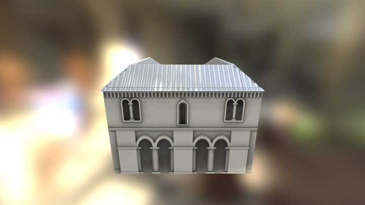 Romanesque Small Low Poly 3D Model