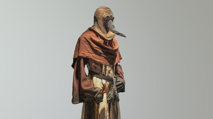 Plague doctor (photogrammetry) 3D Model