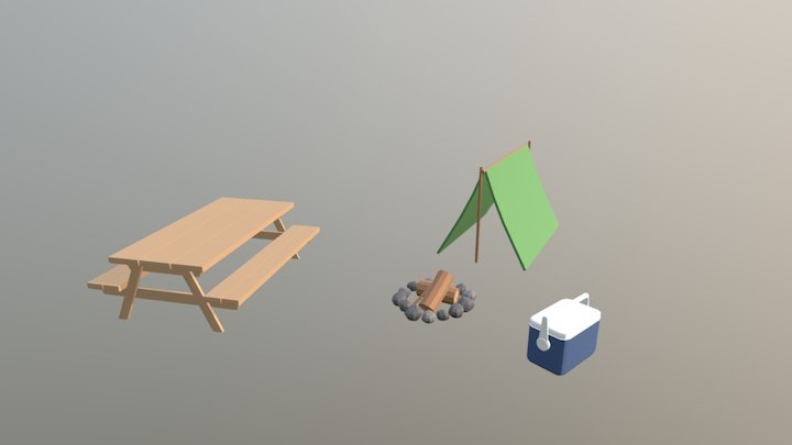Camp Site 3D Model
