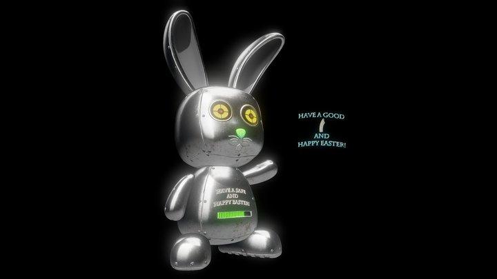 Robotic Bunny - Easter Texturing Challenge 2020 3D Model