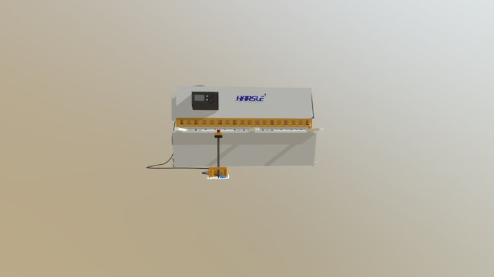 HARSLE Hydraulic metal sheet shearing machine 3D Model