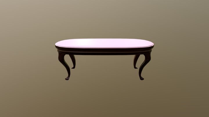 Victorian Coffee Table 3D Model