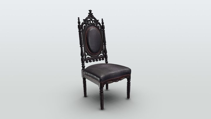 Gothic Side Chair 3D Model