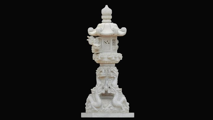 Stone Lantern Tōrō Scan | 3D Scan 3D Model