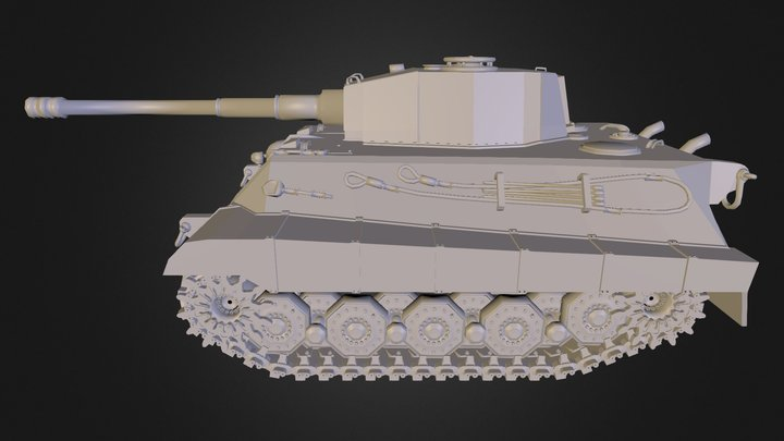 Tiger II Tank 3D Model
