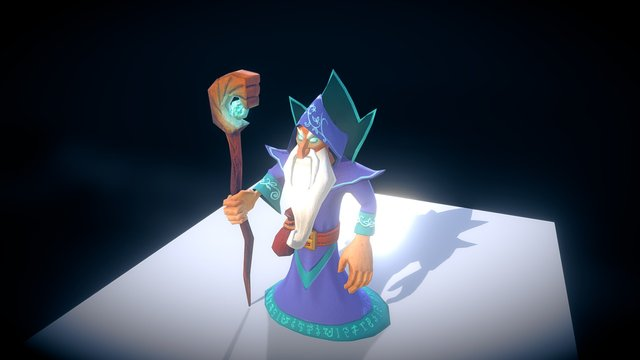 Archane Wizard 3D Model