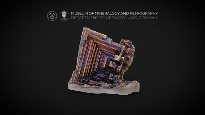 "Synthetic Bismuth with a ""stair-step"" structure 3D Model"