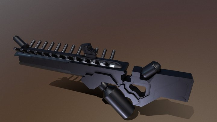 Best Sci Fi Gun 3D Model