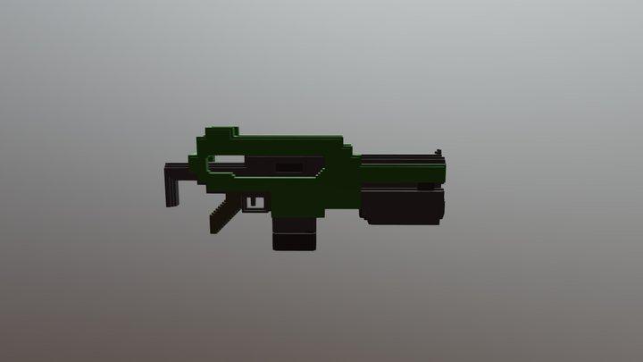 Voxel Rifle 3D Model