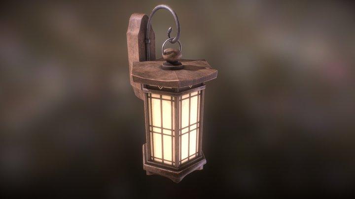 Zen Garden Wall Lamp 3D Model