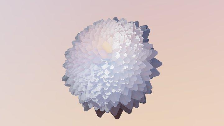 Chrysanthemum Flower 3D Model