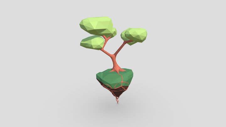 Flying Island 3D Model