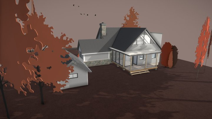 Extension to an existing house 3D Model
