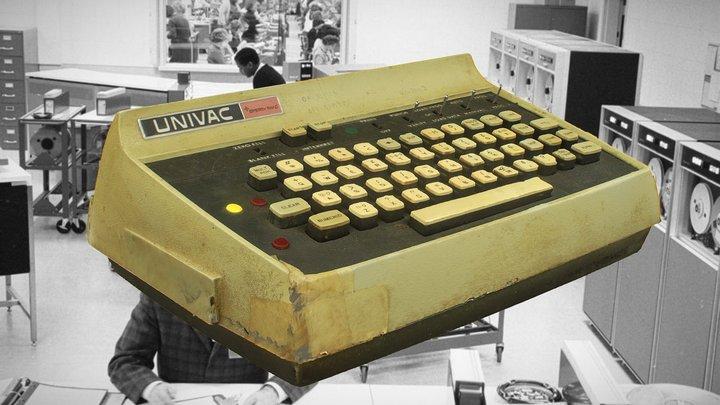 Sperry / Univac Vintage Keyboard 3D Model