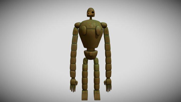 Robot Castle In The Sky 3D Model