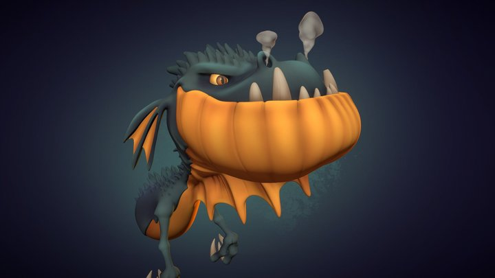 Dragon Bust 3D Model