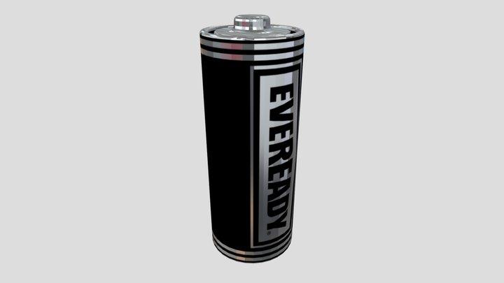 AA Battery 3D Model